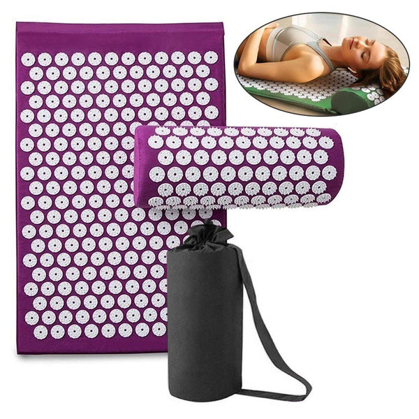 Massage Yoga Mat Pad Acupressure Relieve Stress Back Body Pain
