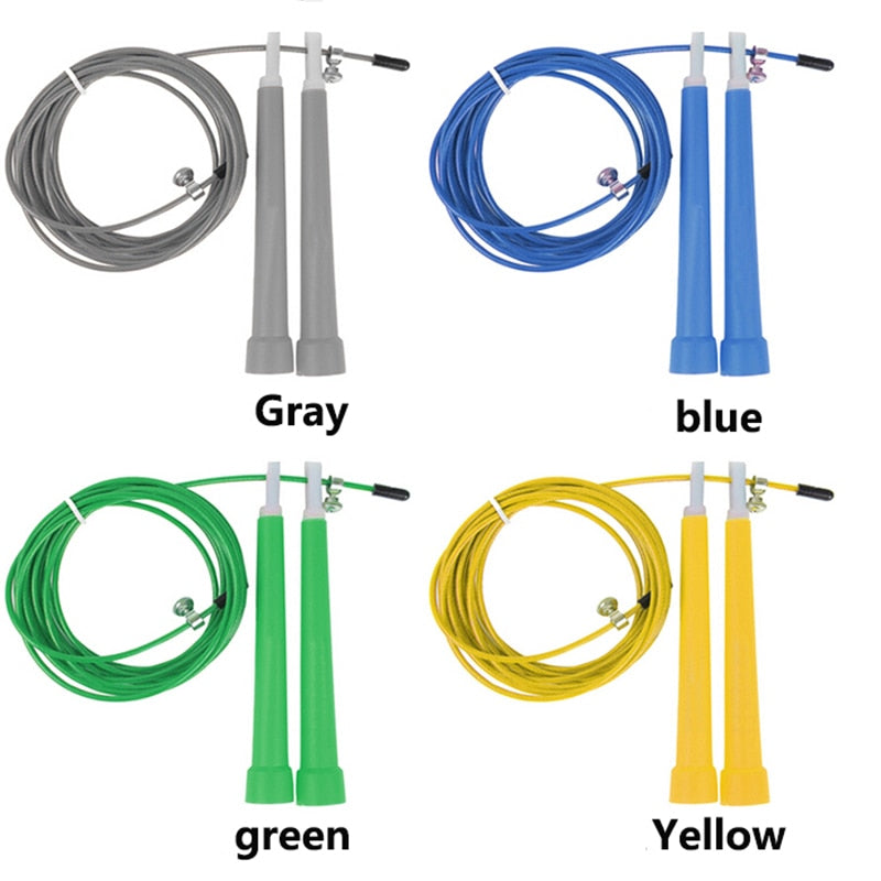3M Jump Skipping Ropes Cable Steel Adjustable Fast Speed