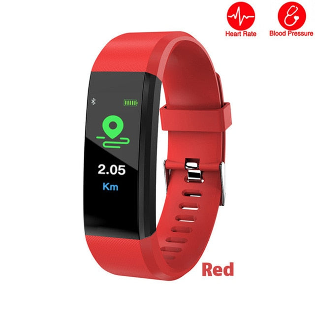 ID115 PLUS Color Screen Smart Bracelet Sports Pedometer Watch Fitness Running Walking