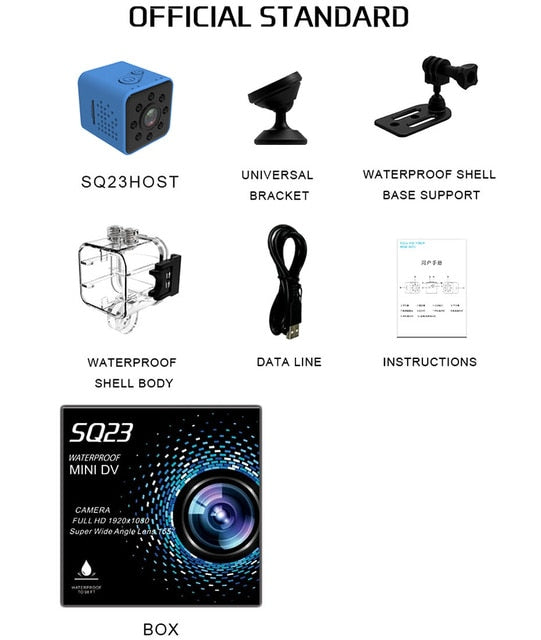 Original Mini Cam WIFI Camera Night Vision Waterproof