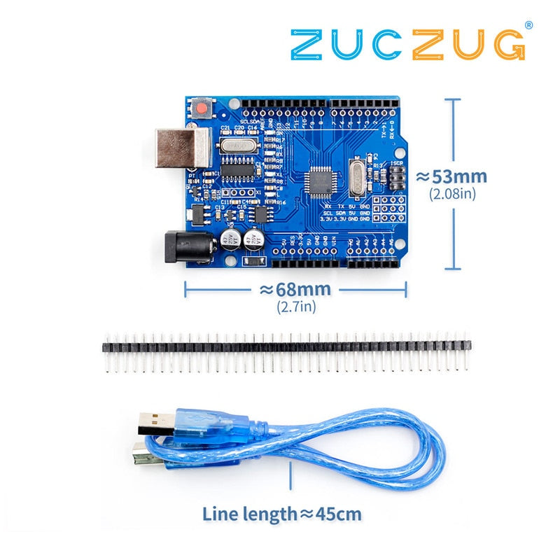 high quality One set UNO R3 CH340G+MEGA328P Chip 16Mhz For Arduino