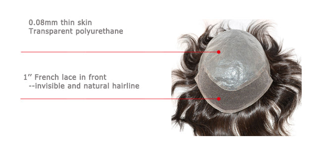 Man hair replacement system -MIXED BASE