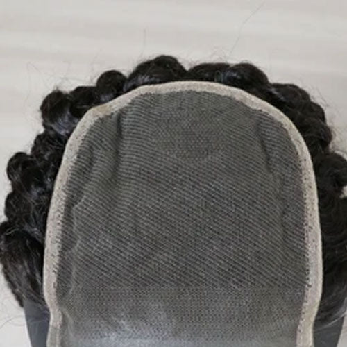 PARTIAL LACE CLOSURE PROTHESIS FOR WOMEN TO COVER  THE ANDROGENETIC ALOPECIA