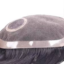 INCREDIBLE NATURAL HAIR TOUPEE WITH SILKY BASE: