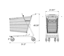 Load image into Gallery viewer, Metal Shopping Cart 180 Liters grocery cart