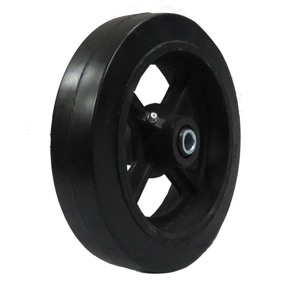 Mold-on rubber cast iron wheel 8