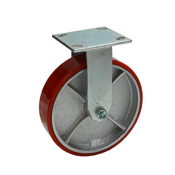 "Mold-On Polyurethane Iron Rigid Caster 6""x2"""