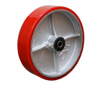 "Mold-On Polyurethane Cast Iron 8""x2"" Wheel"