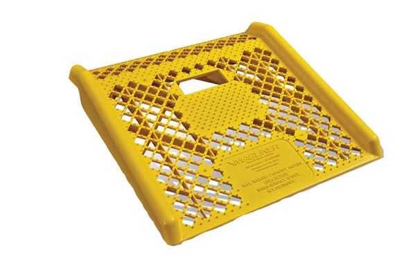 Curb Ramp- Yellow Molded Engineered Plastic