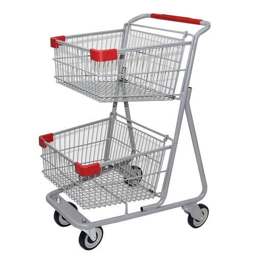 two tier shopping cart