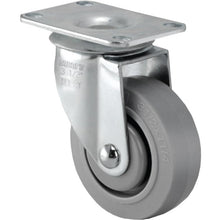 Load image into Gallery viewer, TPR Swivel Gray Caster Small Top Plate 3""