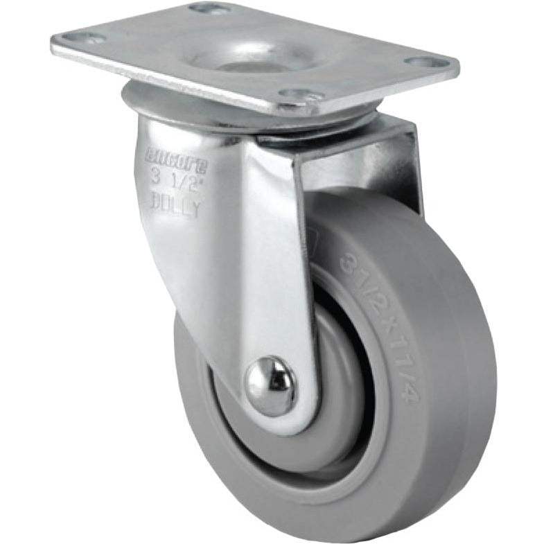 TPR Swivel Gray Caster Small Top Plate 3