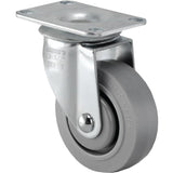 TPR Swivel Gray Caster Small Top Plate 5""