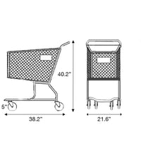 Metal Shopping Cart 160 Liters