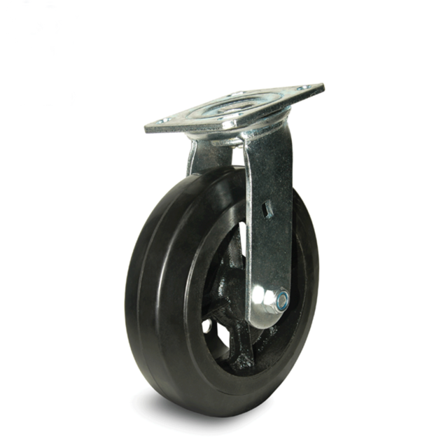 Moldon Rubber Cast Iron Swivel Caster 5