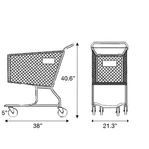 Plastic Shopping Cart 150 Liters