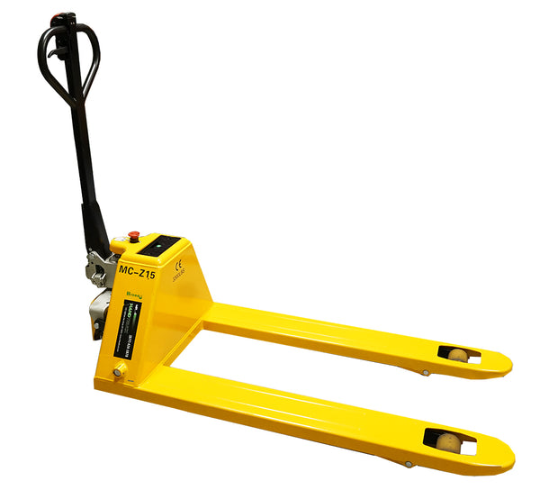 Yellow Semi-Electric Pallet Jack