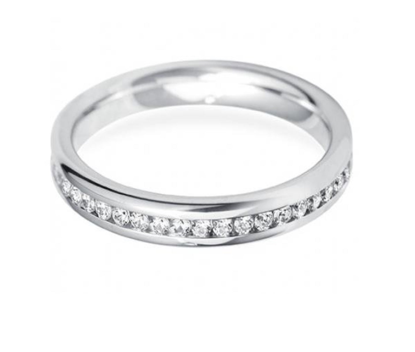 It is just a photo of 388 - 38mm Channel Fully Set Diamond Eternity Wedding Ring
