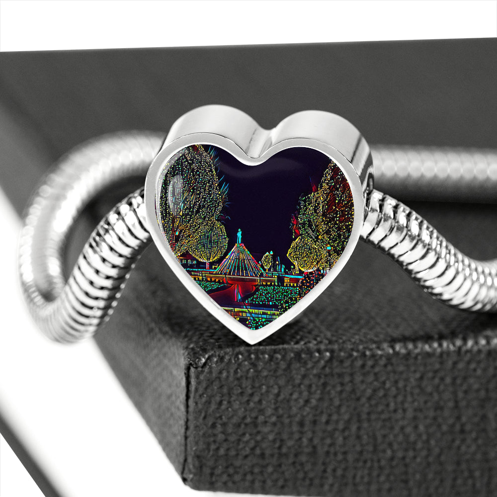 Christmas Charm Bracelet - Heart Shaped