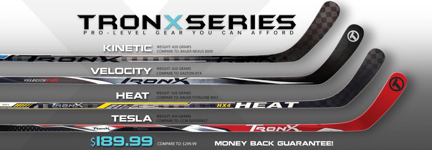 TRON Hockey Sticks – Light on the scale, very light on the budget
