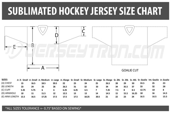 Sublimated Hockey Jersey - Model 22