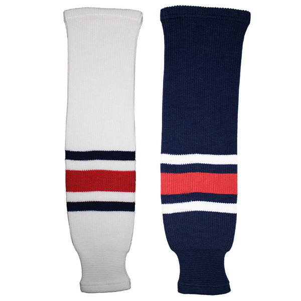 Columbus Blue Jackets Knit Hockey Socks (TronX SK200)