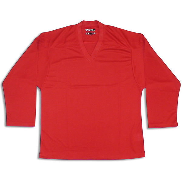 TronX DJ100 Dry Fit Practice Hockey Jersey - Red