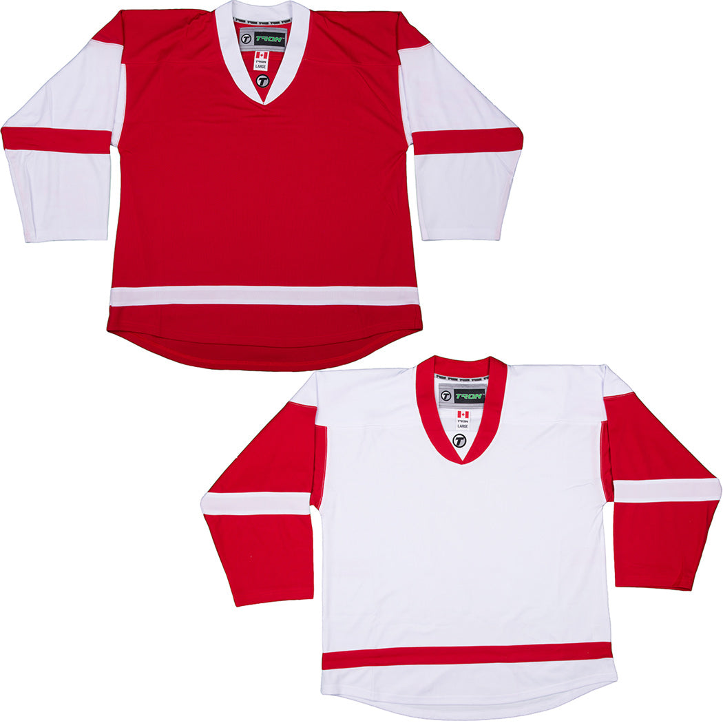 new product f9538 849ca Detroit Red Wings Hockey Jersey - TronX DJ300 Replica Gamewear