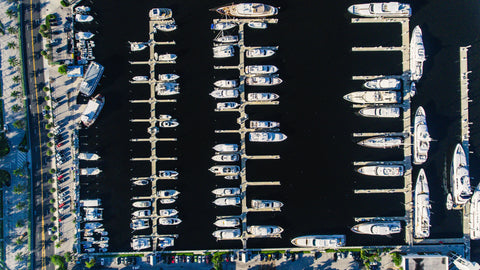 Fort Lauderdale marina with boats