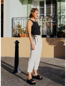 Cassandra Denim Pants in White