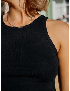 Crazy For You Drawstring Top in Black