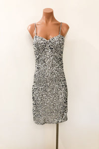 Hello Beautiful Dress in Silver
