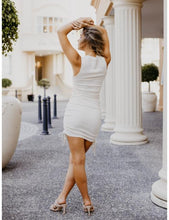 Load image into Gallery viewer, On Cloud Nine Drawstring Dress in White