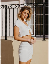 Load image into Gallery viewer, Summer Fling Mini Skirt in White