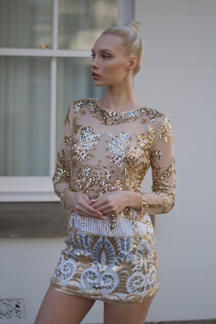 Sweetheart Top in Gold
