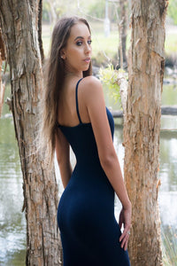 Willow Dress in Navy Blue