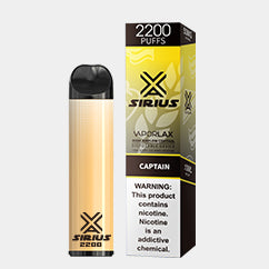 VAPORLAX SIRIUS 2200 DISPOSABLE DEVICE Captain FLAVOR 50MG