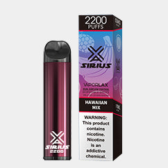 VAPORLAX SIRIUS 2200 DISPOSABLE DEVICE Hawaiian Mix FLAVOR 50MG