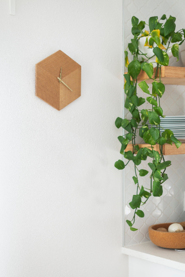 Solid White Oak Analog Iso Clock