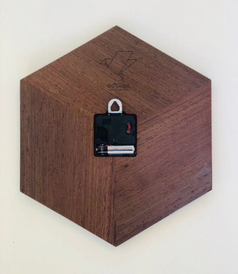 Solid Wenge Analog Iso Clock