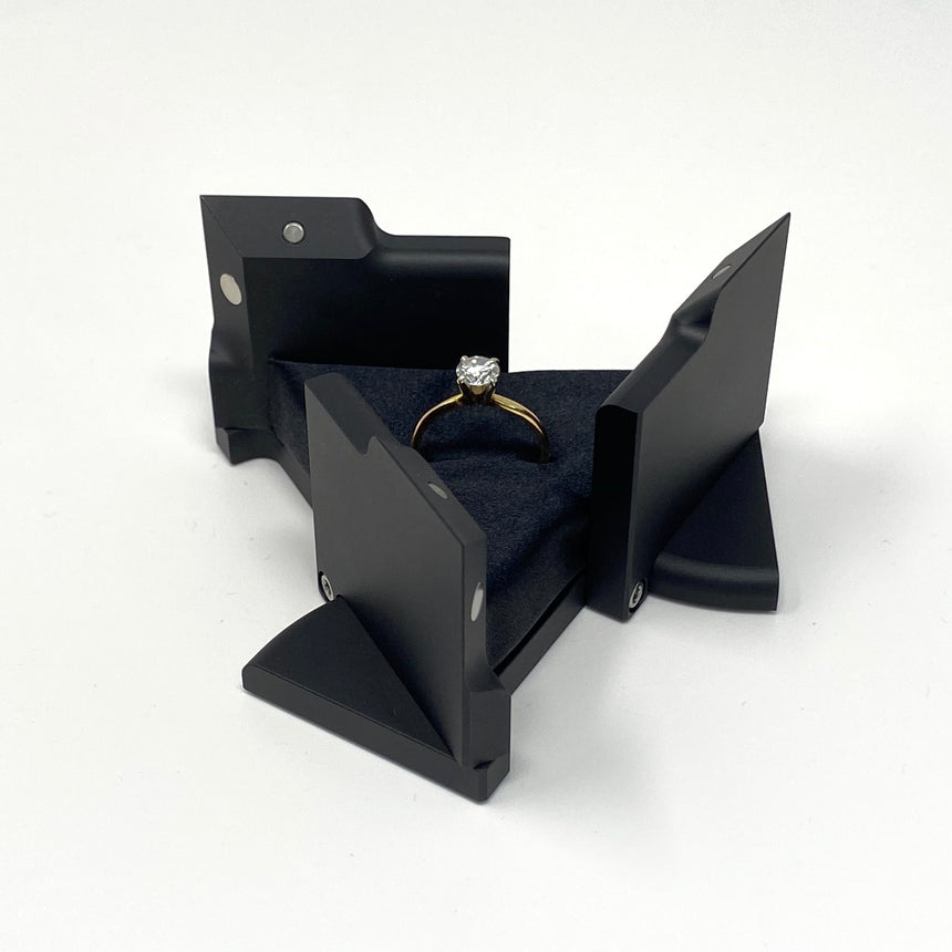 Kinetic Ring Box LE2 - 20 Pieces in Matte Black Anodized Aluminum