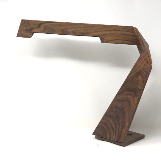 Solid Walnut Kinetic Desk Lamp #6