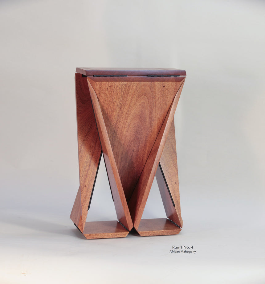 Solid African Mahogany Loop Table #4