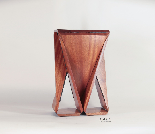 Solid Sapele Mahogany Loop Table #9