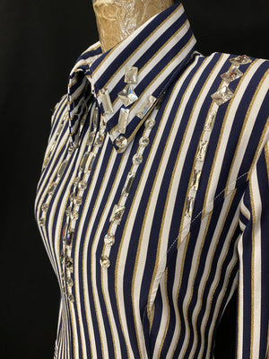 Striped Fitted Shirt/Stones