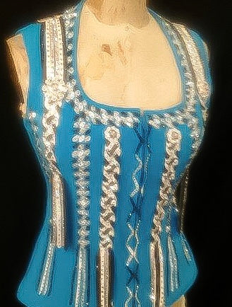 Braided Hand Painted Vest