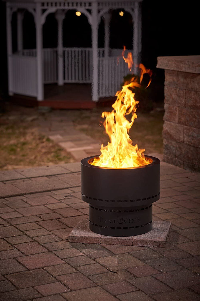 Wood Pellet Fire Pit Flame Genie Smoke Free Spark Free Portable Black Hy C Fg 19 Hearth Trends