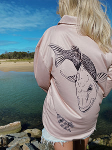 Snapper Fishing Shirt - Sand
