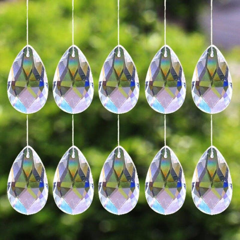 10Pcs Chandelier Jewelry Suncatcher Spacer Faceted