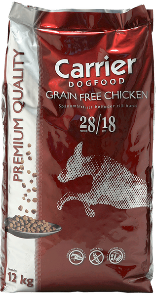 Hund CARRIER GRAIN FREE CHICKEN 12 kg - mattehusse.se